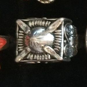 !SALE! #5 = Silvertone Dome Ring